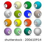 billiard balls of different... | Shutterstock .eps vector #200610914