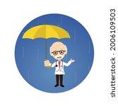 physician in rain flat vector... | Shutterstock .eps vector #2006109503
