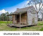 Original rustic restored frontier house, TX