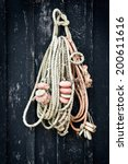 Fish Rope Hanging On A Wooden...