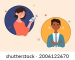 audio chat conversation in... | Shutterstock .eps vector #2006122670