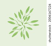 abstract green leaves  branch...   Shutterstock .eps vector #2006167226