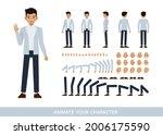 businessman wear blue suit... | Shutterstock .eps vector #2006175590