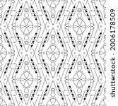 tribal vector pattern. ethnic... | Shutterstock .eps vector #2006178509