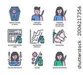 vaccination icons set filled... | Shutterstock .eps vector #2006217356