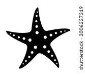 starfish black and white... | Shutterstock .eps vector #2006227319