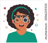 children vision checkup in... | Shutterstock .eps vector #2006235533