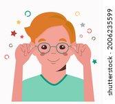 children vision checkup in... | Shutterstock .eps vector #2006235599