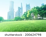 park in  lujiazui financial... | Shutterstock . vector #200624798