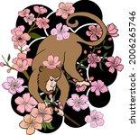 monkey illustration for...   Shutterstock .eps vector #2006265746
