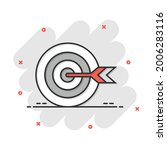 target aim vector icon in comic ... | Shutterstock .eps vector #2006283116