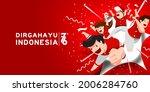 17 august. indonesia happy... | Shutterstock .eps vector #2006284760