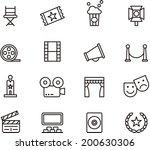 cinema icons   Shutterstock .eps vector #200630306