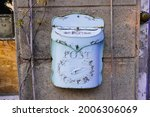 Cute Pastel Blue Metal Mailbox  ...