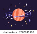 Abstract Planet Globe With...