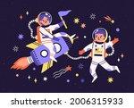 spaceman children in space... | Shutterstock .eps vector #2006315933