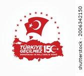 holiday of turkey. 15 temmuz.... | Shutterstock .eps vector #2006342150