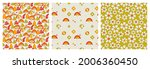 a set of seamless patterns in... | Shutterstock .eps vector #2006360450