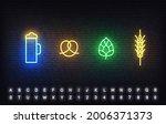 oktoberfest neon icons template.... | Shutterstock .eps vector #2006371373