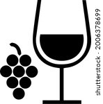 wine glass and grapes vector... | Shutterstock .eps vector #2006378699