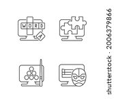 intellectual game types linear... | Shutterstock .eps vector #2006379866