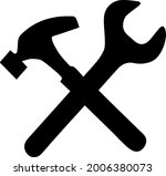 wrench and hammer vector icon.... | Shutterstock .eps vector #2006380073