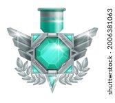 game badge vector icon  rank... | Shutterstock .eps vector #2006381063