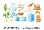 collection of cane sugar.... | Shutterstock .eps vector #2006383883