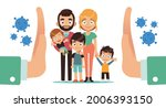 family is protected. mother...   Shutterstock .eps vector #2006393150