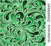 silk texture fluid shapes ... | Shutterstock .eps vector #2006408669