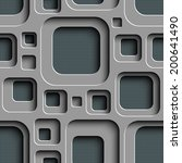 vector seamless square... | Shutterstock .eps vector #200641490
