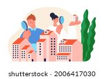 real estate search. buying... | Shutterstock .eps vector #2006417030