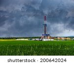 natural gas drilling worksite...