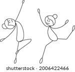 stick figure girl dancing ... | Shutterstock .eps vector #2006422466