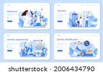 geneticist web banner or... | Shutterstock .eps vector #2006434790