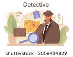 professional detective concept. ... | Shutterstock .eps vector #2006434829