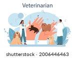 pet veterinarian concept....   Shutterstock .eps vector #2006446463