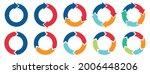 circle arrows icon set. round... | Shutterstock .eps vector #2006448206