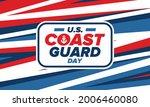 u.s. coast guard day in united...   Shutterstock .eps vector #2006460080