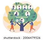family tree. tiny people ... | Shutterstock .eps vector #2006479526