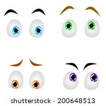 cartoon eyes with various...   Shutterstock .eps vector #200648513
