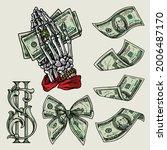 money colorful vintage elements ... | Shutterstock .eps vector #2006487170