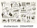 sketch business organization... | Shutterstock .eps vector #200649089