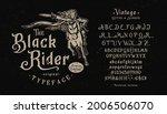 font black rider. craft retro... | Shutterstock .eps vector #2006506070