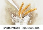 Illustration Of Wheat Ears In A ...
