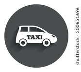 taxi car sign icon. hatchback... | Shutterstock .eps vector #200651696