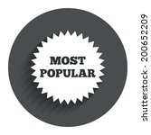 most popular sign icon....
