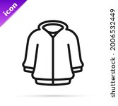 black line hoodie icon isolated ... | Shutterstock .eps vector #2006532449