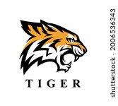 fierce tiger head logo icon.... | Shutterstock .eps vector #2006536343