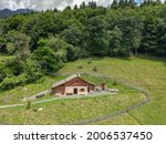 Drone View At The Alp Chalet Of ...